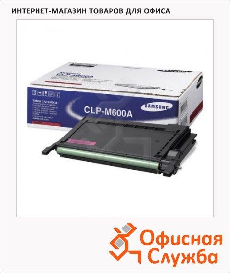 фото: Тонер-картридж Samsung CLP-M600A пурпурный