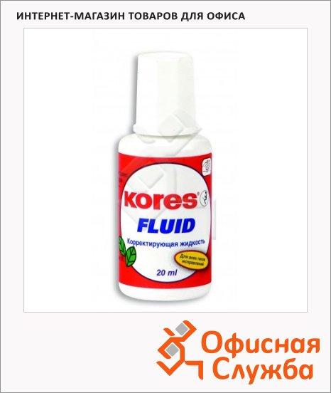 Корректирующая жидкость Kores Fluid 20мл, с кисточкой, быстросохнущая