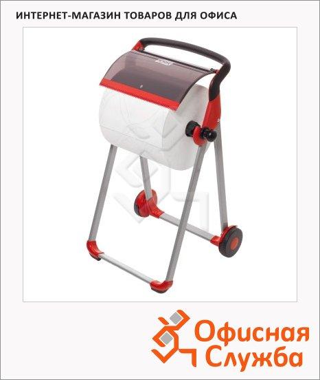 Держатель для протирочной бумаги в рулонах Tork Performance W1, 652008, напольный, красный