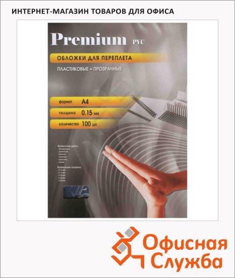 фото: Обложки для переплета пластиковые Office Kit PCA400300 прозрачные А4, 100шт, 150 мкм