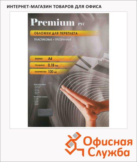 Обложки для переплета пластиковые Office Kit PYA400180 прозрачные, А4, 180 мкм, 100шт