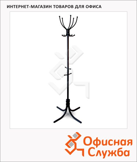 фото: Вешалка-стойка напольная М-10 176.5х78 см черная