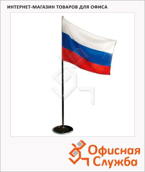 Флаг напольный Титан Россия 90х135 см, с флагштоком