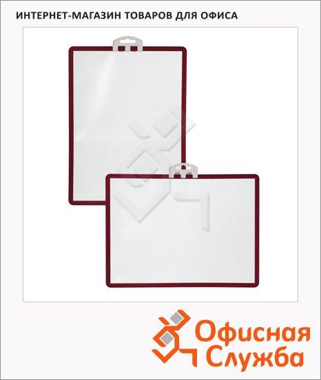 Панель для демосистем Durable Sherpa А4, красная, гор/верт, 5613-03
