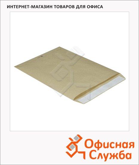 Пакет почтовый бумажный плоский Multipack E4 крафт, 100г/м2, стрип, 160х230мм, 500шт