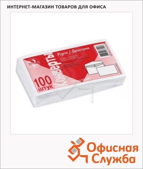 Конверт почтовый Officepost Е65 белый, 110х220мм, 80г/м2, стрип, 100шт