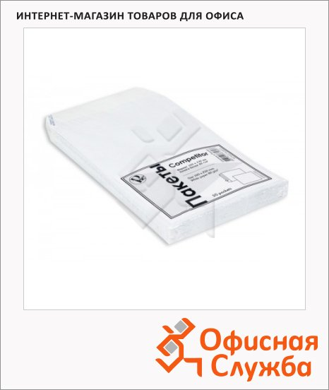 Конверт почтовый Officepost Е65 белый, 110х220мм, 80г/м2, декстрин, 100шт