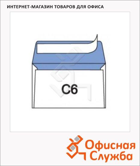 Конверт почтовый Officepost С6 белый, 114х162мм, 80г/м2, стрип, 100шт