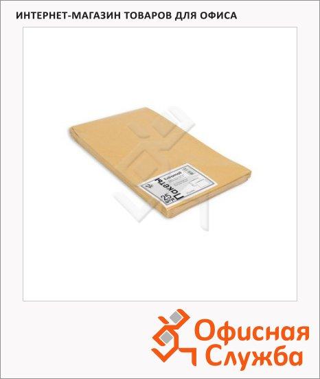 фото: Пакет почтовый объемный Extrapack В4 крафт 250х353х40мм, стрип, 120г/м2, 25шт