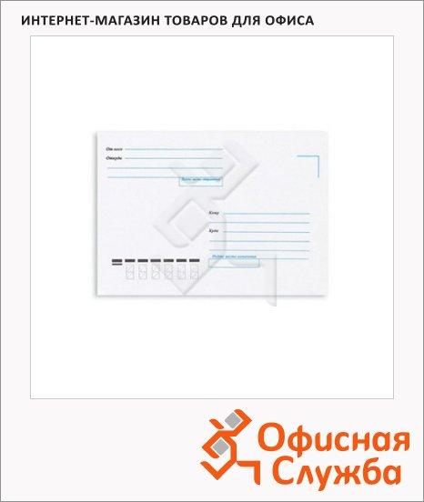 Конверт почтовый Forpost С6 белый, 114х162мм, 80г/м2, стрип, Куда-Кому, 1000шт