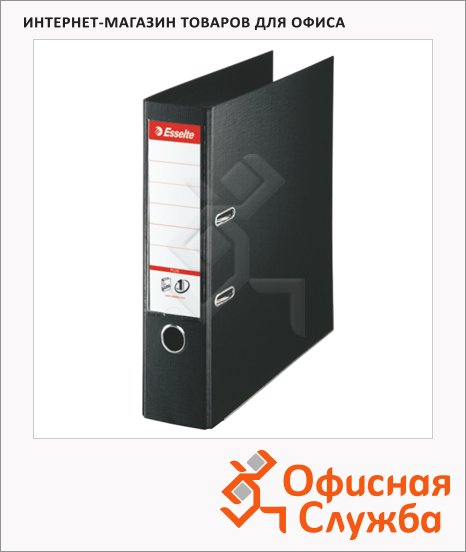 фото: Папка-регистратор А4+ Esselte Plus черная 80 мм, 81187