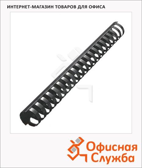 Пружины для переплета пластиковые Office Kit черные, на 240-270 листов, кольцо, 28мм, 50шт, 20204739
