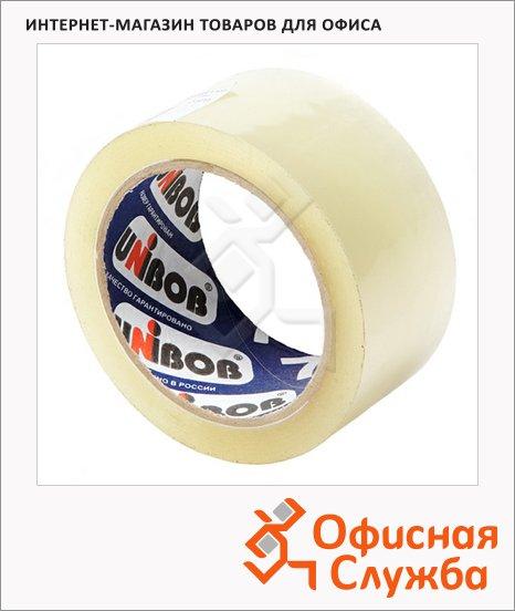 Клейкая лента упаковочная Unibob 50мм х66м, прозрачная, 47мкм
