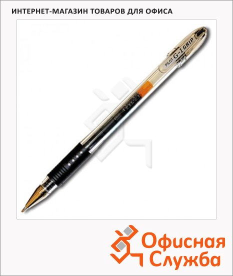 Ручка гелевая Pilot BLGP-G1 Grip черная, 0.3мм
