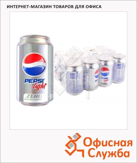 Напиток газированный Pepsi Light 0.33л x 12шт, ж/б