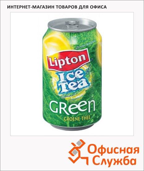 Чай холодный Lipton Ice Tea зеленый чай, 0.33л х 12шт, ж/б