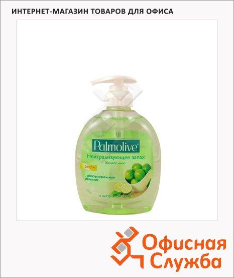 Жидкое мыло Palmolive Натурэль 300мл, с дозатором, лайм, нейтрализующее запах, с антибактериальным эффектом