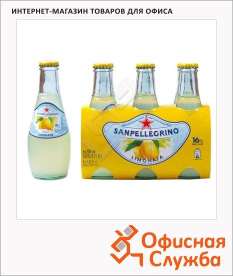 Напиток газированный Sanpellegrino Limonata лимон, 0.2л, стекло