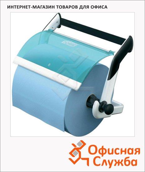 фото: Держатель для протирочных материалов в рулонах Tork Performance W1 652100, настенный, бело-голубой