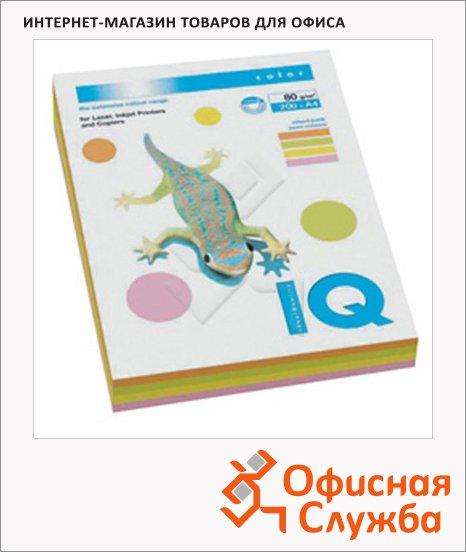 фото: Цветная бумага для принтера Iq Color neon 4 цвета А4, 200 листов, 80г/м2, RB04