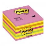 Блок для записей с клейким краем Post-It Classic 5 цветов, неон, 76х76мм, 450 листов, розовая пастель