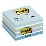 Блок для записей с клейким краем Post-It Classic голубой, пастельный, 76х76мм, 450 листов, 2028-B