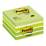 Блок для записей с клейким краем Post-It Classic зеленый, пастельный, 76х76мм, 450 листов, 2028-G