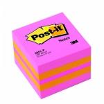 Блок для записей с клейким краем Post-It Classic розовый, пастельный, 51х51мм, 400 листов, 2051-Р
