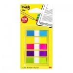 Клейкие закладки пластиковые Post-It Professional 5 цветов, 12х43мм, 5х20 листов, в диспенсере, 683-5CBX