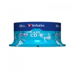 Диск CD-R Verbatim 700Mb, 52x, Cake Box, 25шт/уп