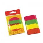 Клейкие закладки бумажные Kores 4 цвета, 20х50мм, 4х50 листов