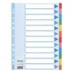 Цветовой разделитель листов Esselte, А4, 12 разделов