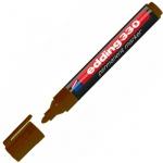 Маркер перманентный Edding 330, 1-5мм, скошенный наконечник, универсальный, заправляемый, коричневый