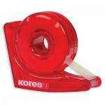 Диспенсер с клейкой лентой Kores Улитка 19мм х33м, красный