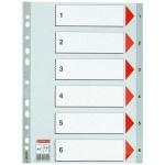 Цифровой разделитель листов Esselte 6 разделов, А4, 100104