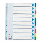 Цветовой разделитель листов Esselte Maxi 10 разделов, А4+, 15267