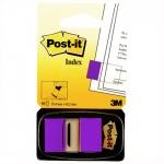 Клейкие закладки бумажные Post-It Index фиолетовый, 25х43мм, 50шт, в диспенсере, 680-8-RU