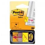 Клейкие закладки пластиковые Post-It Professional желтый, 25х43мм, 50 листов, Указатель подписи, в диспенсере, 680-31-RU