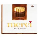 Конфеты Merci 4 вида горького шоколада, 250г