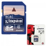 ����� ������ Kingston SDHC, 8Gb, 4��/�