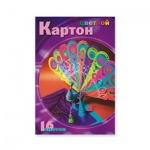 Цветной картон Мультики 8 цветов, А4, 16 листов