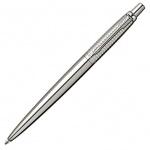 Ручка шариковая Parker Jotter Premium М, синяя, хром глянцевый корпус