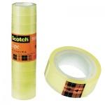Клейкая лента канцелярская Scotch Эконом 12мм х 10м, прозрачная, 12шт/уп