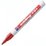 Маркер лаковый перманентный Edding 751 красный, 1-2мм, круглый наконечник, универсальный
