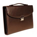Портфель Алекс Меценат №388 370х260х45мм, коричневый, искусственная кожа