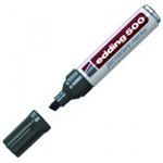 Маркер перманентный Edding 500 черный, 2-7мм, скошенный наконечник, универсальный, заправляемый