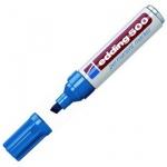 Маркер перманентный Edding 500 синий, 2-7мм, скошенный наконечник, универсальный, заправляемый