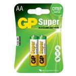 Батарейка Gp Super AA/LR6, 1.5В, алкалиновые, 2шт/уп