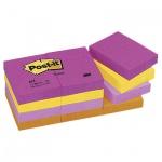 Блок для записей с клейким краем Post-It Classic 4 цвета, неон, 38x51мм, 12х100 листов, 653-TF