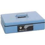 Кэшбокс Shuh Ru CB-9707N, 30х23х8см, ключевой замок, голубой